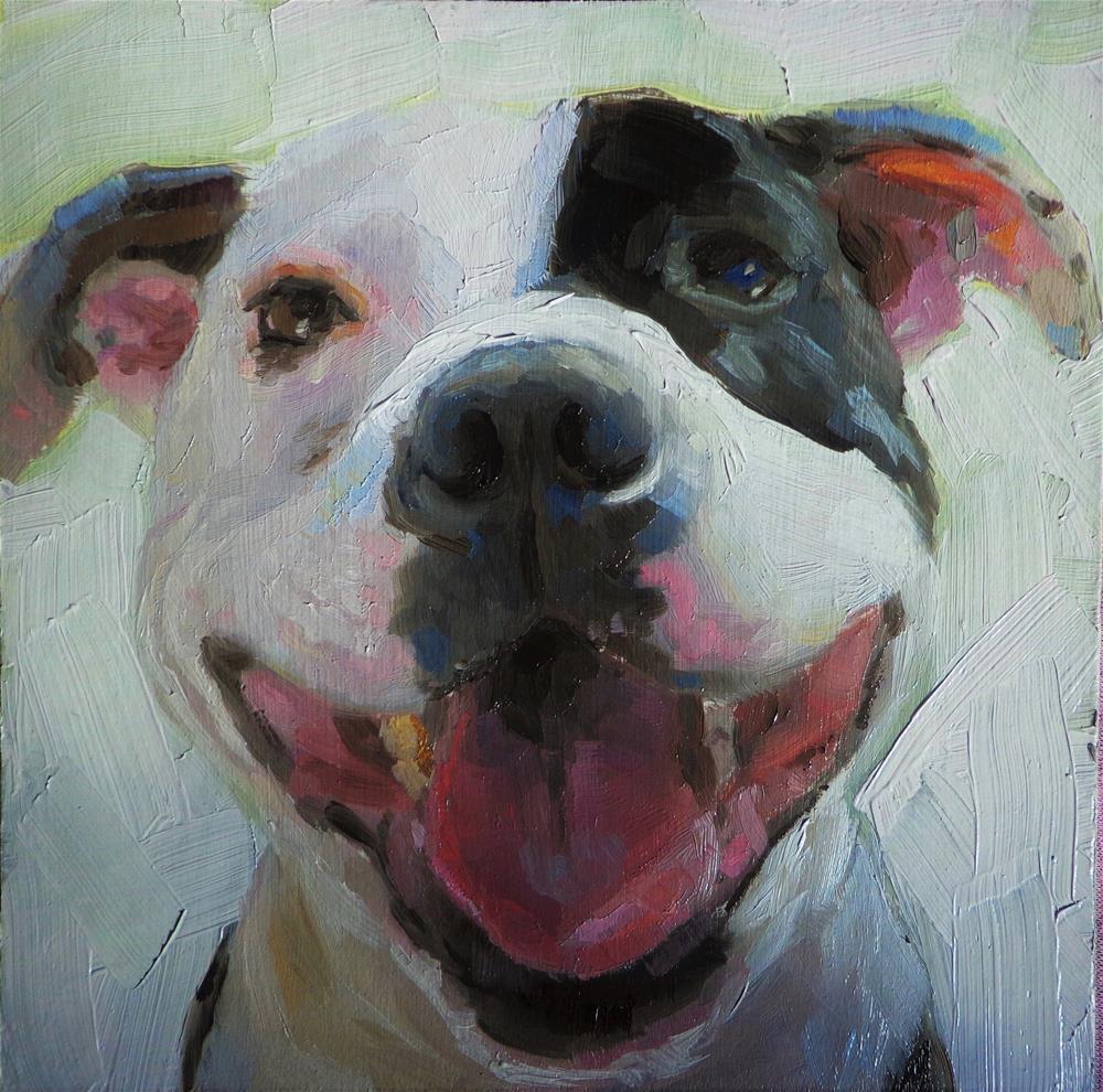 """Excited"" original fine art by Maria Z."