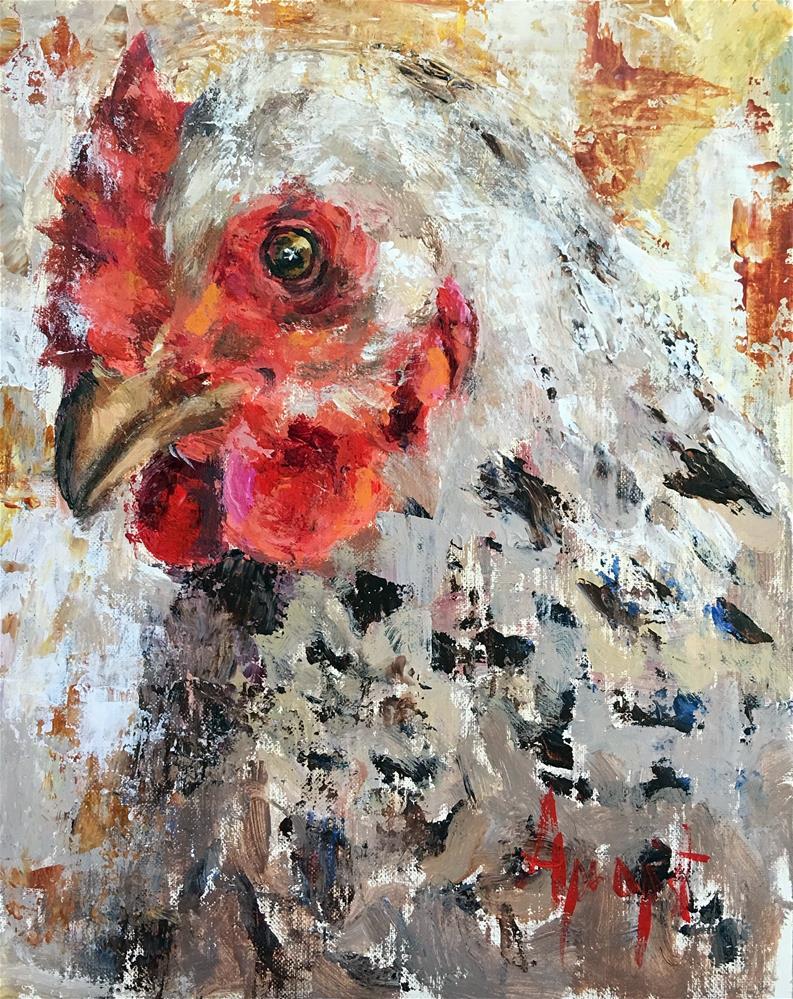 """""""Mother Hen"""" original fine art by Anne Marie Propst"""