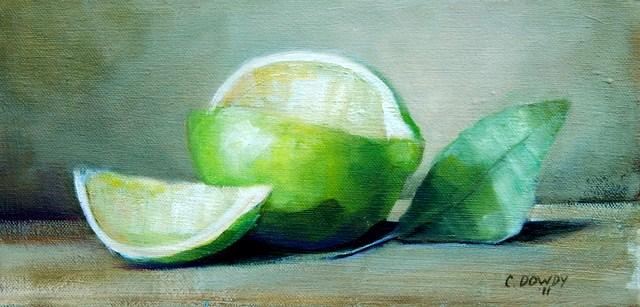 """Lime"" original fine art by Christina Dowdy"