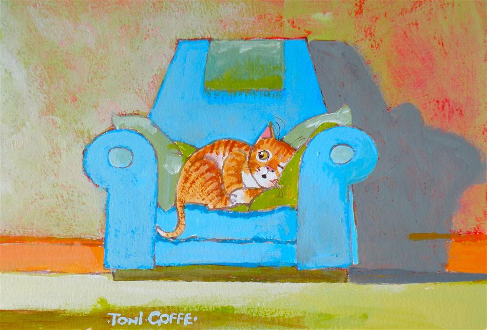 """Was That The Sound of My Bowl?"" original fine art by Toni Goffe"