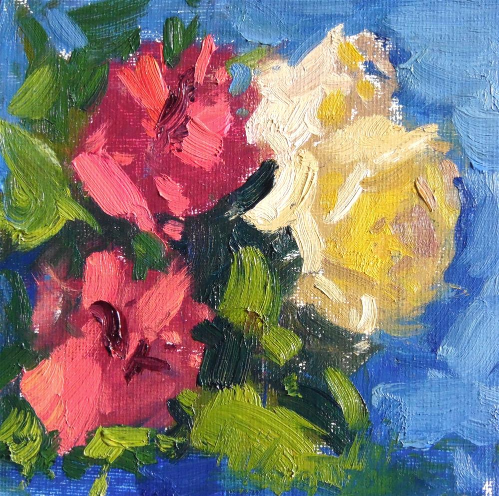 """""""Roses and Carnations """" original fine art by Michael Clark"""