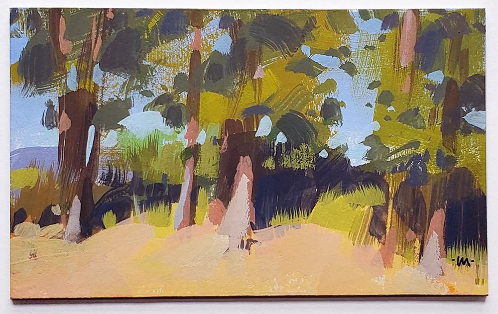 """Tree Gangs"" original fine art by Carol Marine"