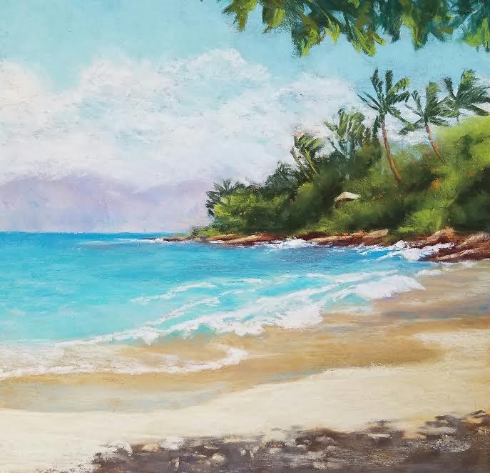 """""""Hidden Cove"""" original fine art by Denise Beard"""