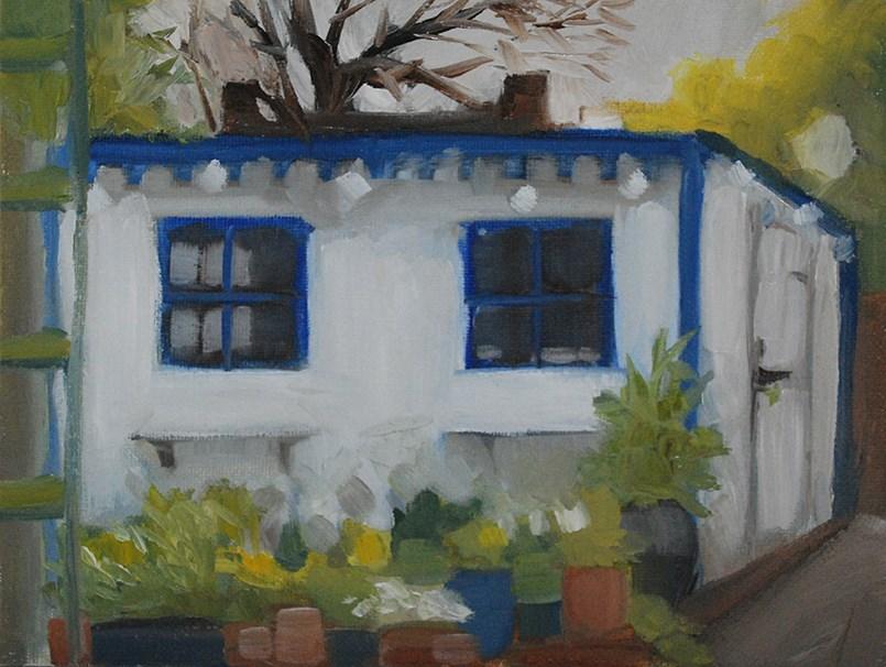 """The Shed"" original fine art by J M Needham"