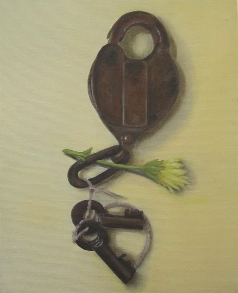 """Under Lock and Key"" original fine art by Karen Stitt"