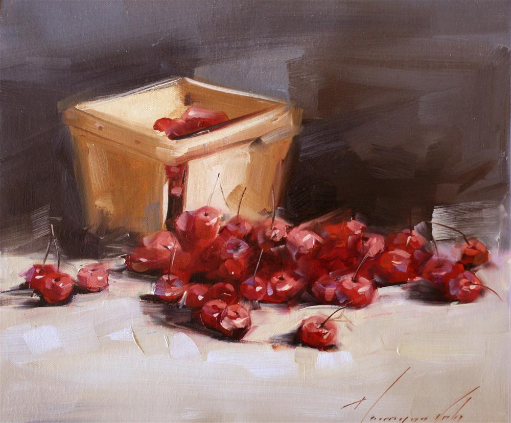 """""""BERRIES STILL LIFE ORIGINAL OIL PAINTING ONE OF A KIND"""" original fine art by V Y"""