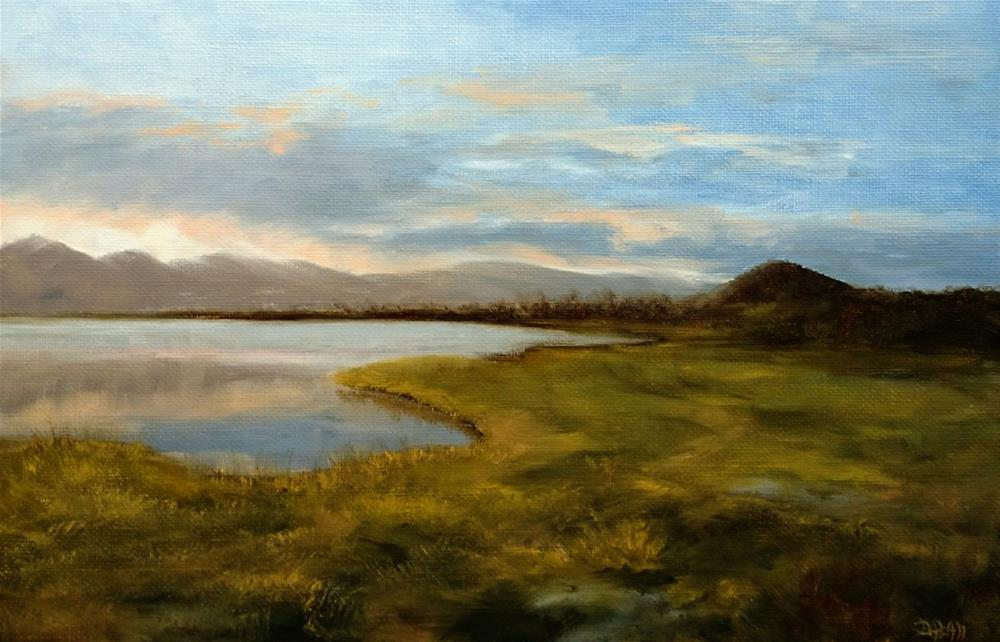 """Windward Oahu Sunset, Nuupia Ponds Wildlife Sanctuary, MCBH"" original fine art by Dalan Wells"