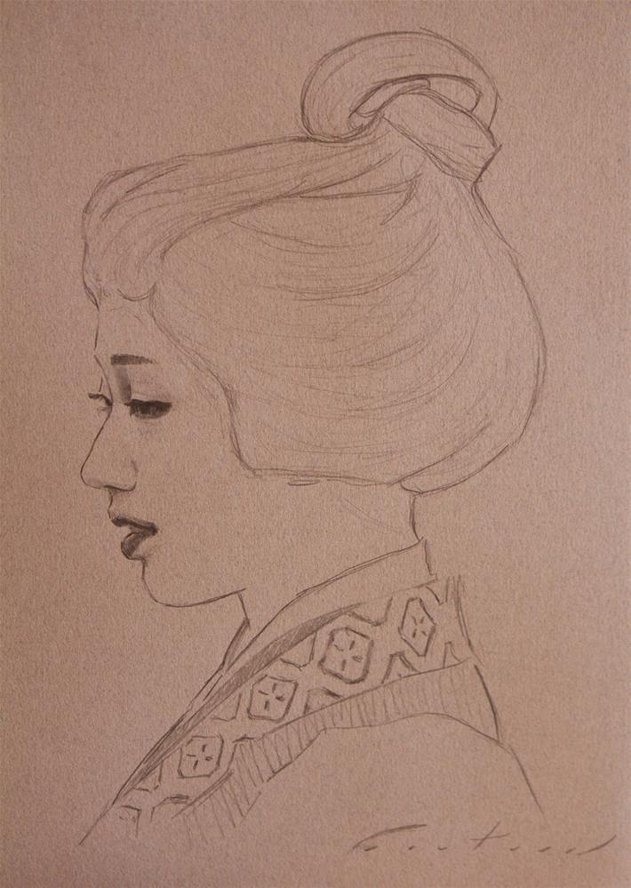 """Maiko Mamefuji Study"" original fine art by Phil Couture"