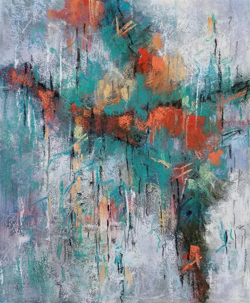 """Dancing in the Rain"" original fine art by Cindy Haase"