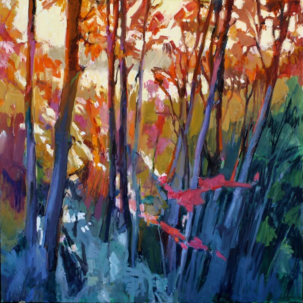 """Twilight Madronas"" original fine art by Gretchen Hancock"