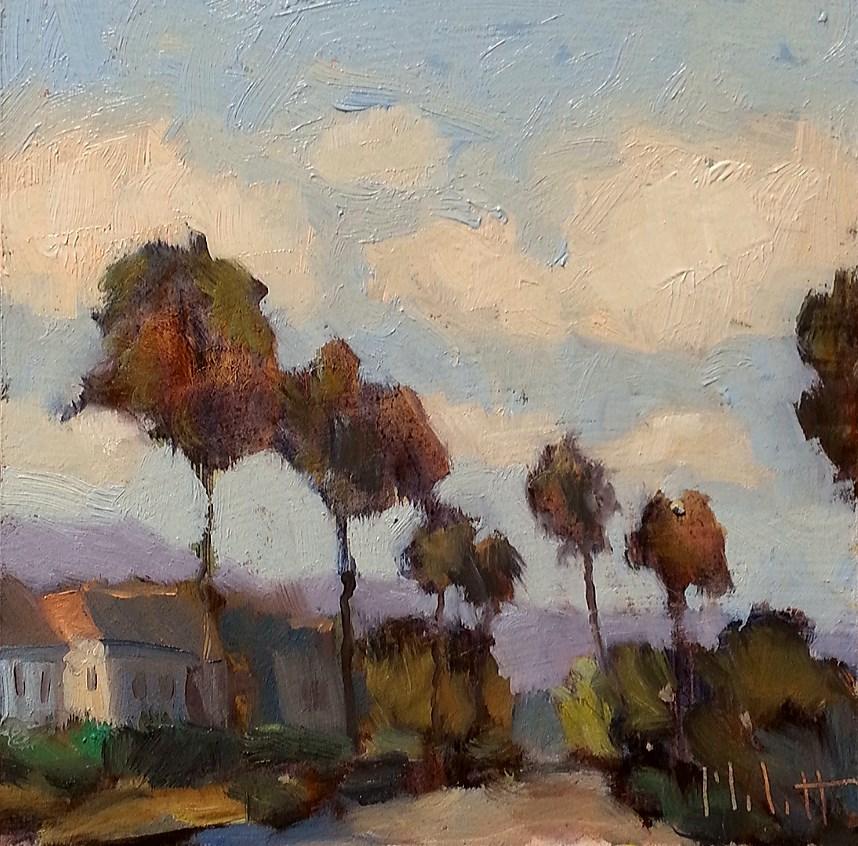 """California Neighborhood Contemporary Impressionism Original Oil Painting Heidi Malott"" original fine art by Heidi Malott"