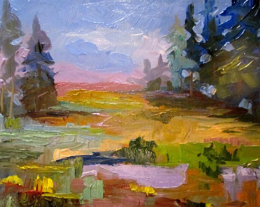 """Landscape Color"" original fine art by Delilah Smith"