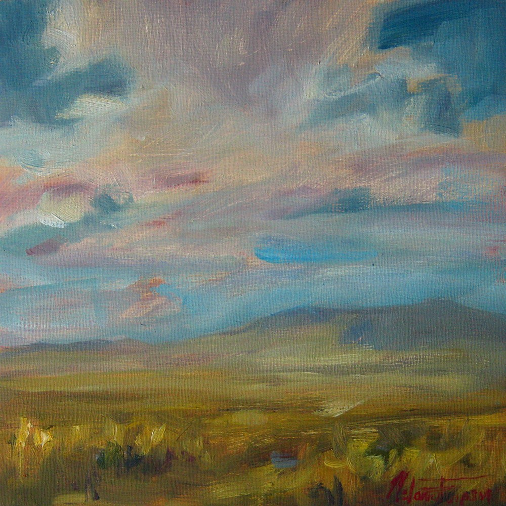 """Summer Skies"" original fine art by Melanie Thompson"