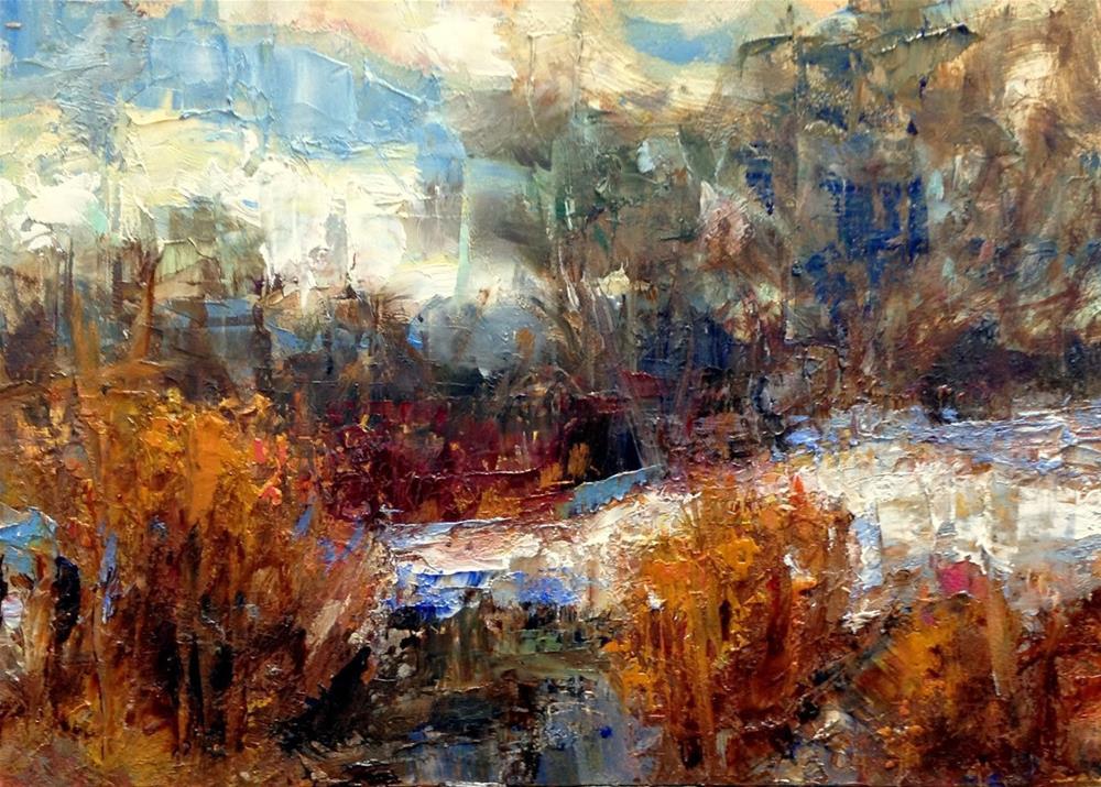 """""""Colors of Winter"""" original fine art by Julie Ford Oliver"""