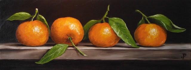 """""""Clementine quartet"""" original fine art by Jane Palmer"""
