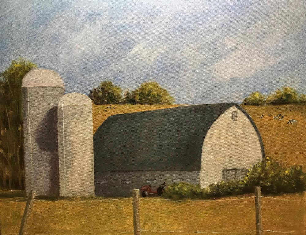 """summer on the farm in Masonville, N.Y."" original fine art by Betty Argiros"