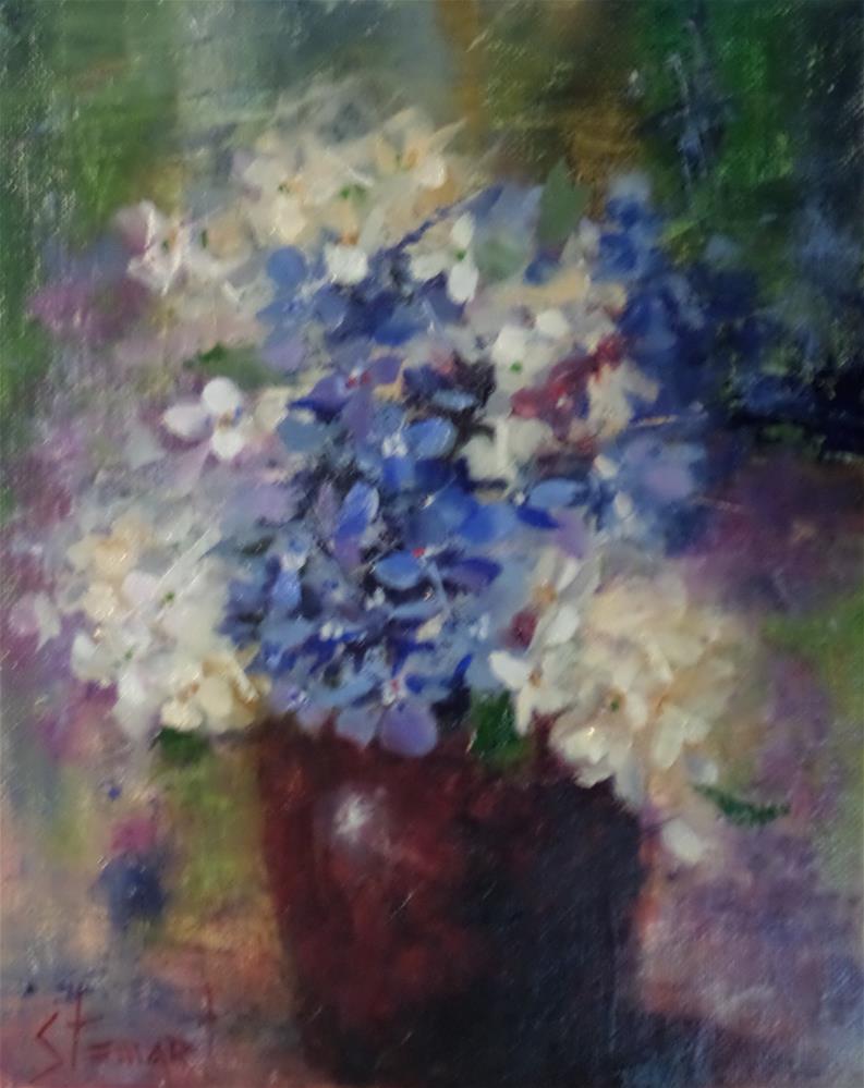 """""""Moody Blues"""" original fine art by Kris Stewart"""