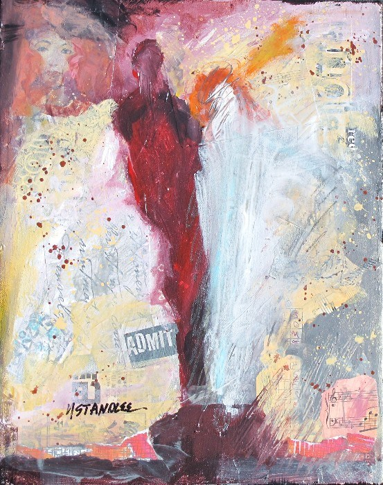 """Admit Two 13042"" original fine art by Nancy Standlee"