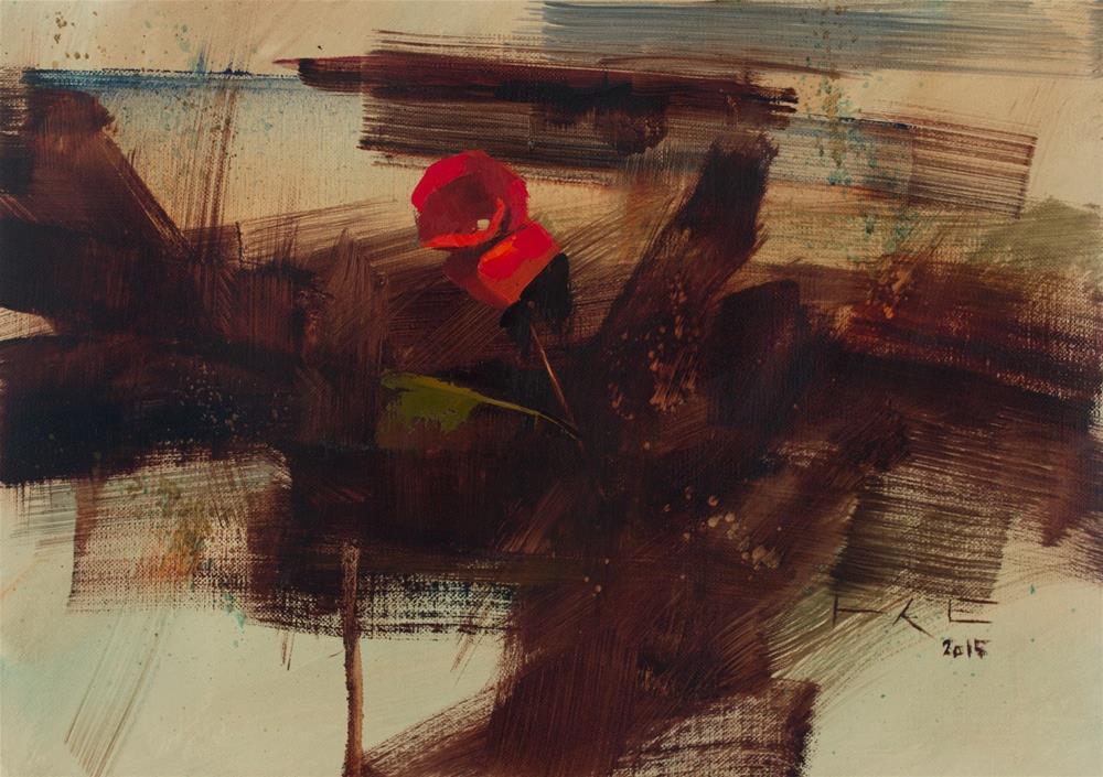 """Red Begonia"" original fine art by Thorgrimur Andri Einarsson"