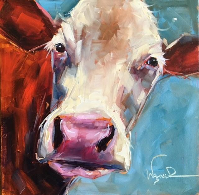 """""""BIG NOSE"""" original fine art by Olga Wagner"""