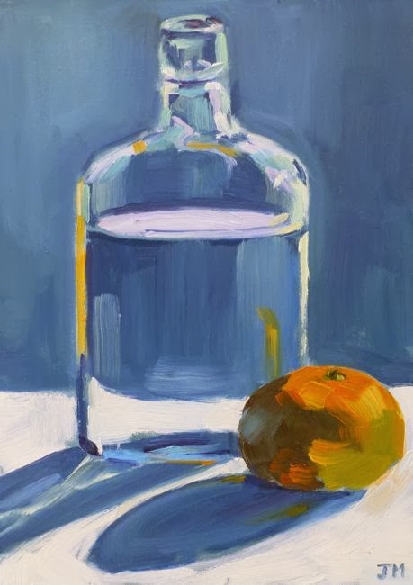 """Water and Clementine"" original fine art by Jessica Miller"