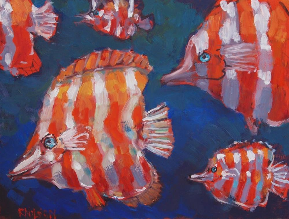 """Fancy Fishes"" original fine art by Rick Nilson"