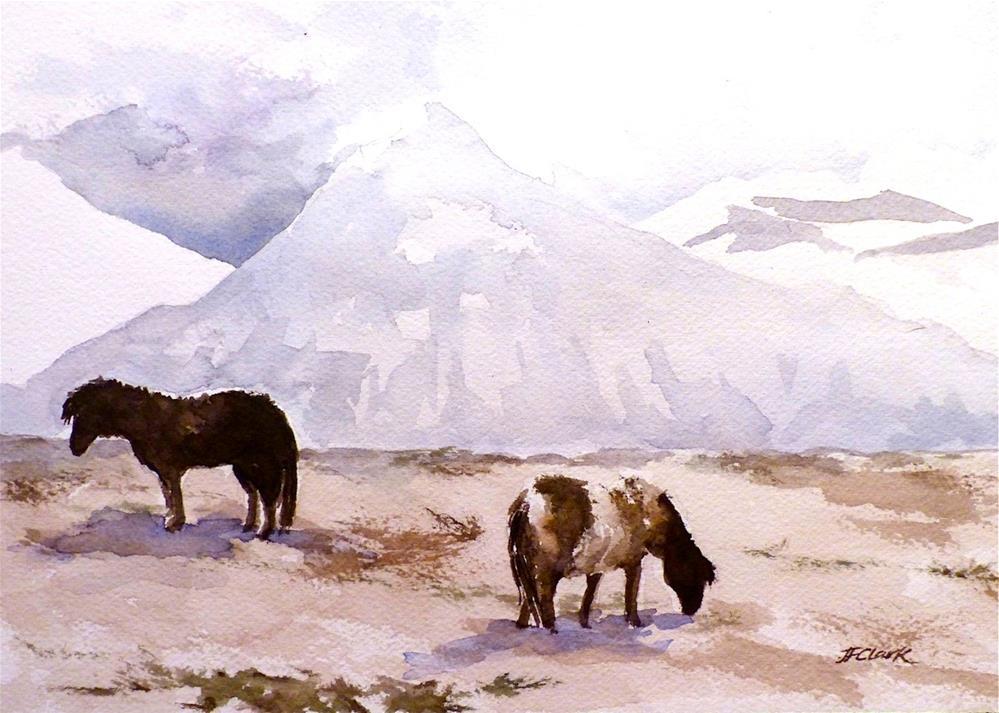 """""""Icelandic Horses II"""" original fine art by Judith Freeman Clark"""