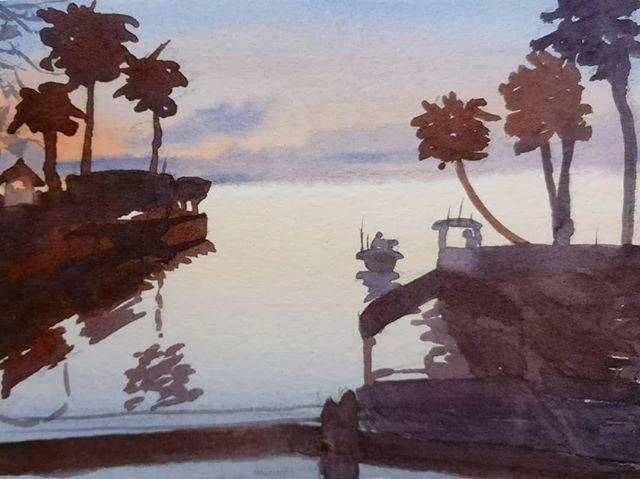 """Port St. Joe Before Hurricane Michael"" original fine art by Maria Peagler"