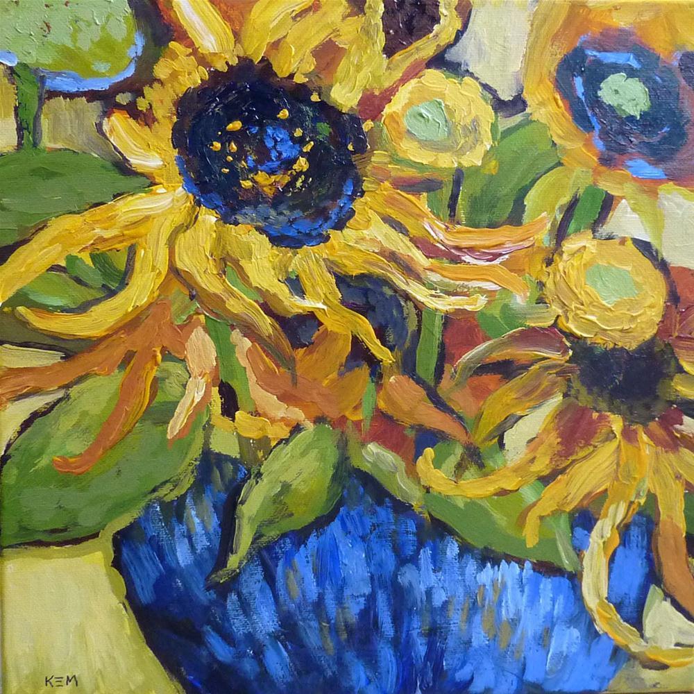 """Summer Joy...Van Gogh's Sunflowers"" original fine art by Karen Margulis"
