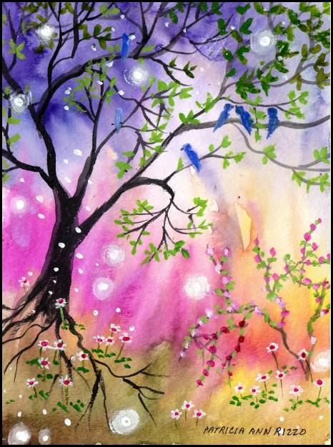 """""""First Taste of Spring"""" original fine art by Patricia Ann Rizzo"""