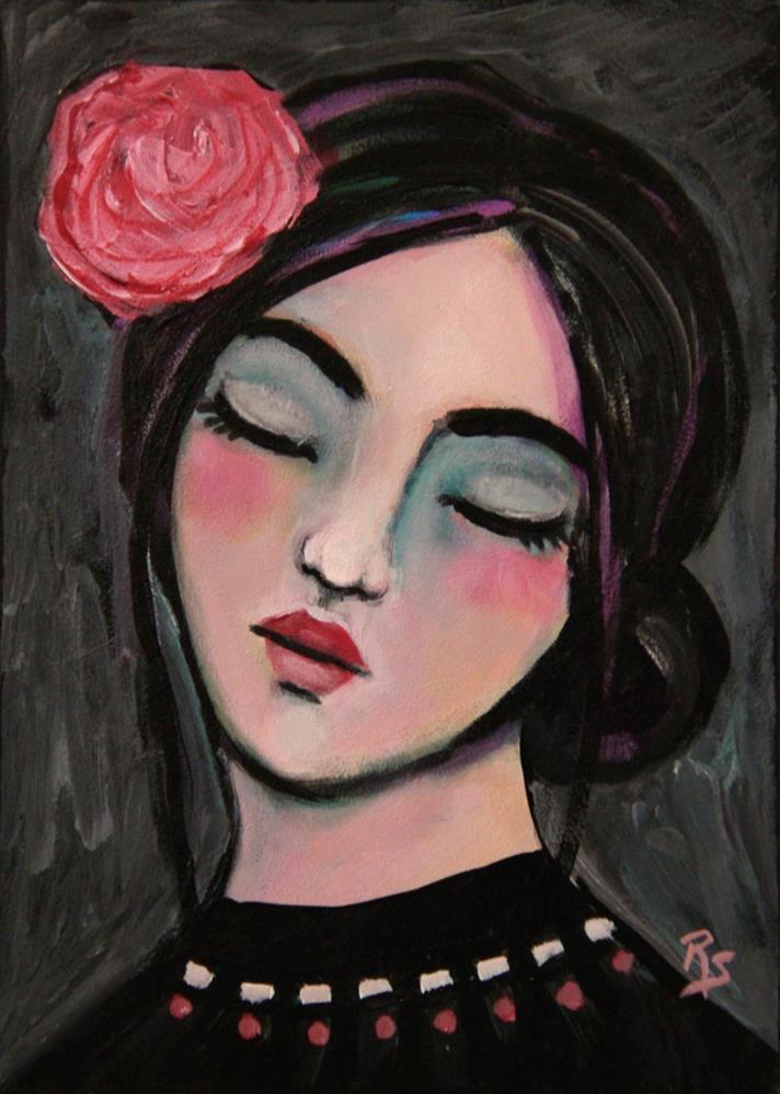 """The Dreaming Rose"" original fine art by Roberta Schmidt"