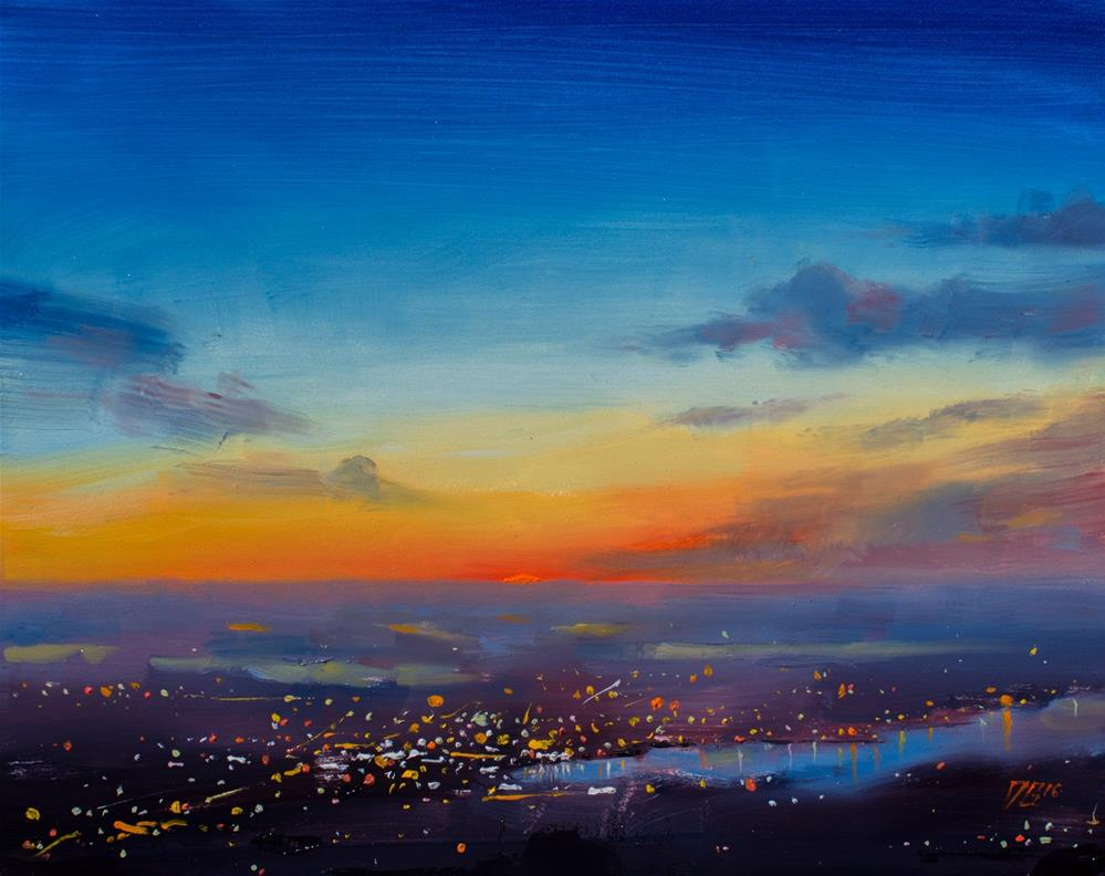 """Sunset on the Sound"" original fine art by Dimitriy Gritsenko"