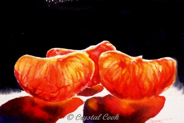 """Juicies"" original fine art by Crystal Cook"