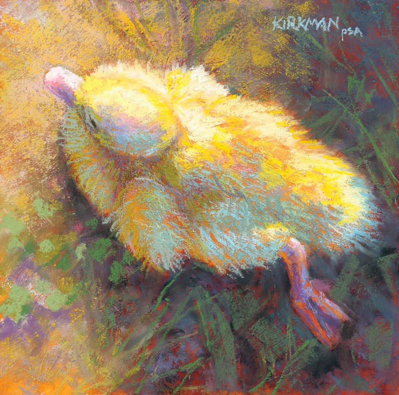 """Grounded Duckling"" original fine art by Rita Kirkman"