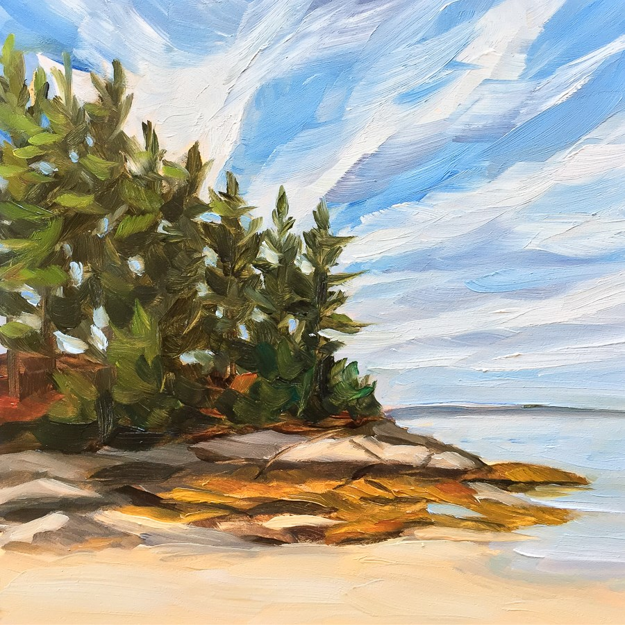 """#75 - Sand Beach - Stonington, ME"" original fine art by Sara Gray"