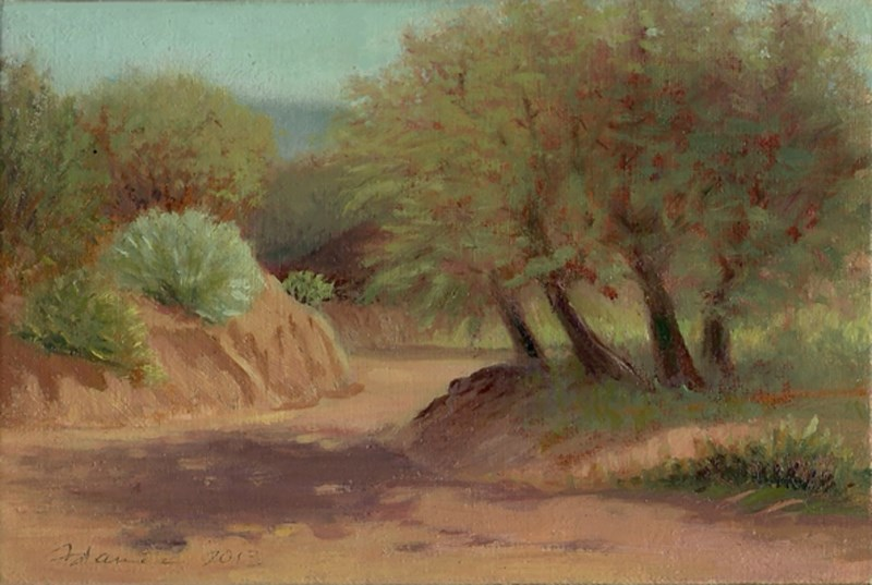 """Afternoon Arroyo"" original fine art by Carol L Adamec"