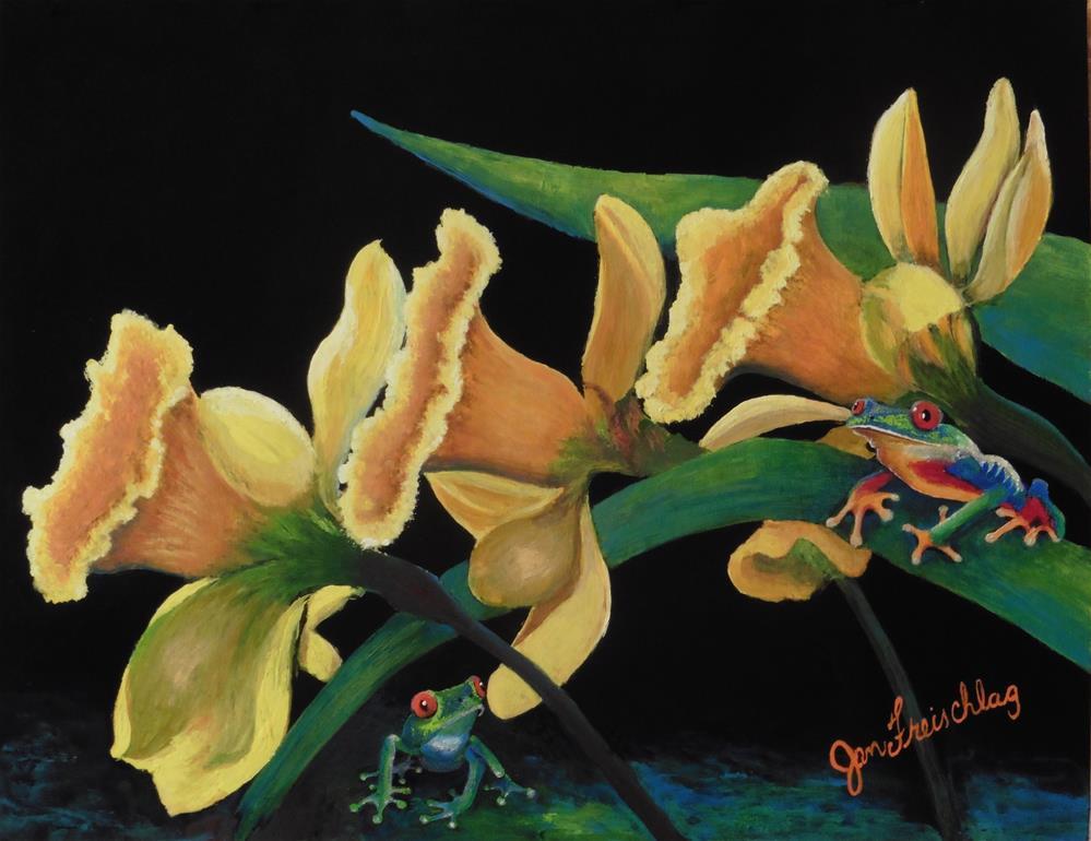 """Daffodil parade"" original fine art by Janice Freischlag"
