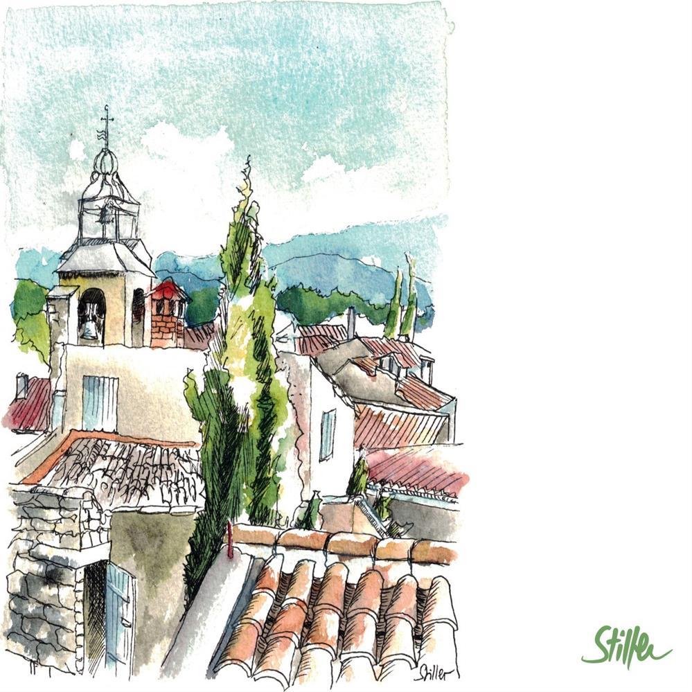"""3305 Beautiful Village"" original fine art by Dietmar Stiller"