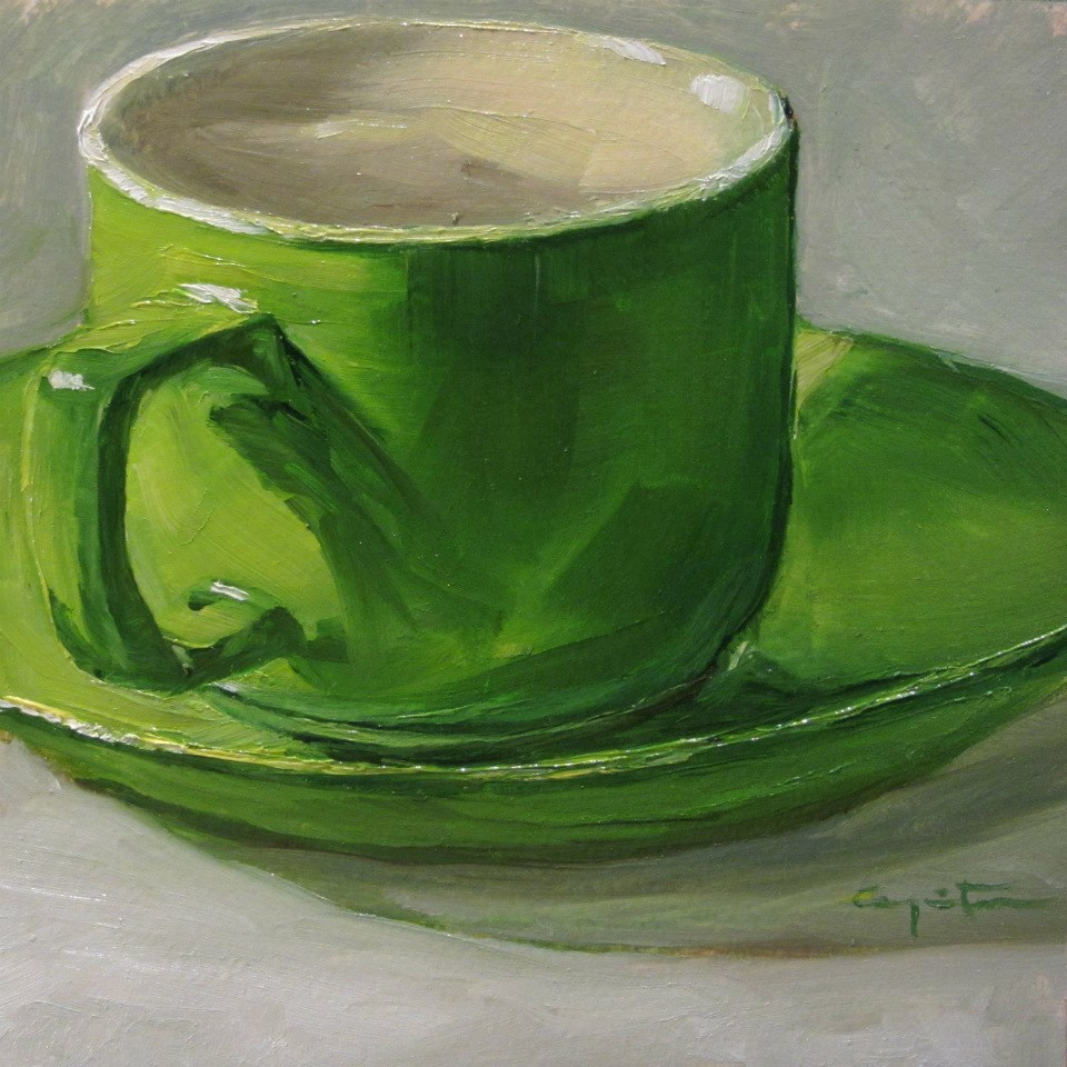 """Verde silencio"" original fine art by Eduardo Carpintero"