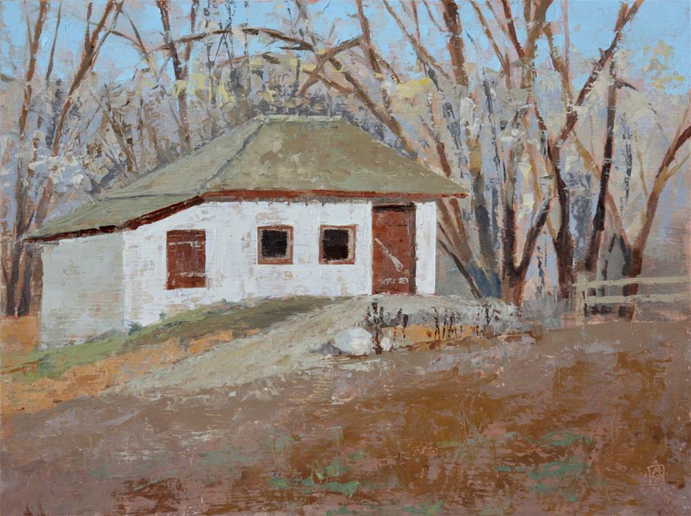 """Wheeler Farm Outbuilding"" original fine art by Carol Granger"