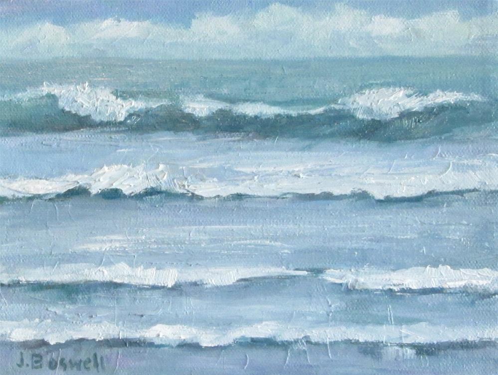 """Surf Series 11"" original fine art by Jennifer Boswell"