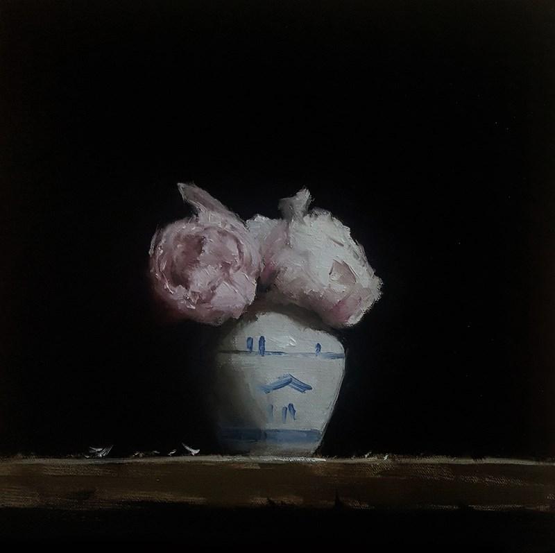 """Peony Vase"" original fine art by Neil Carroll"