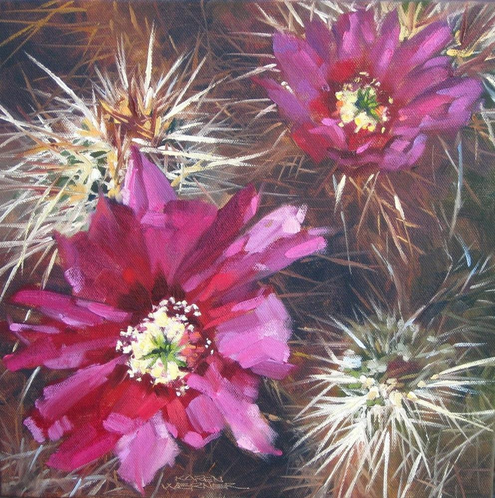 """""""Prickly"""" original fine art by Karen Werner"""