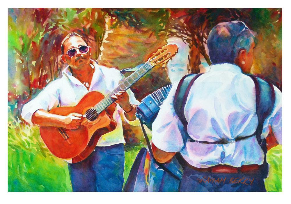 """Guitar man"" original fine art by Graham Berry"