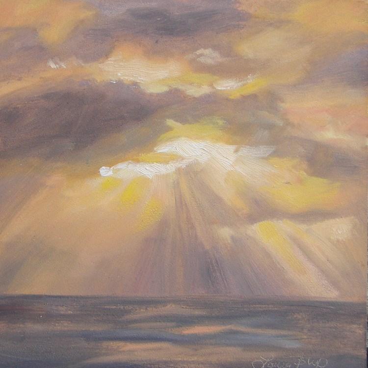 """Sun Burst 468"" original fine art by Laura  Buxo"