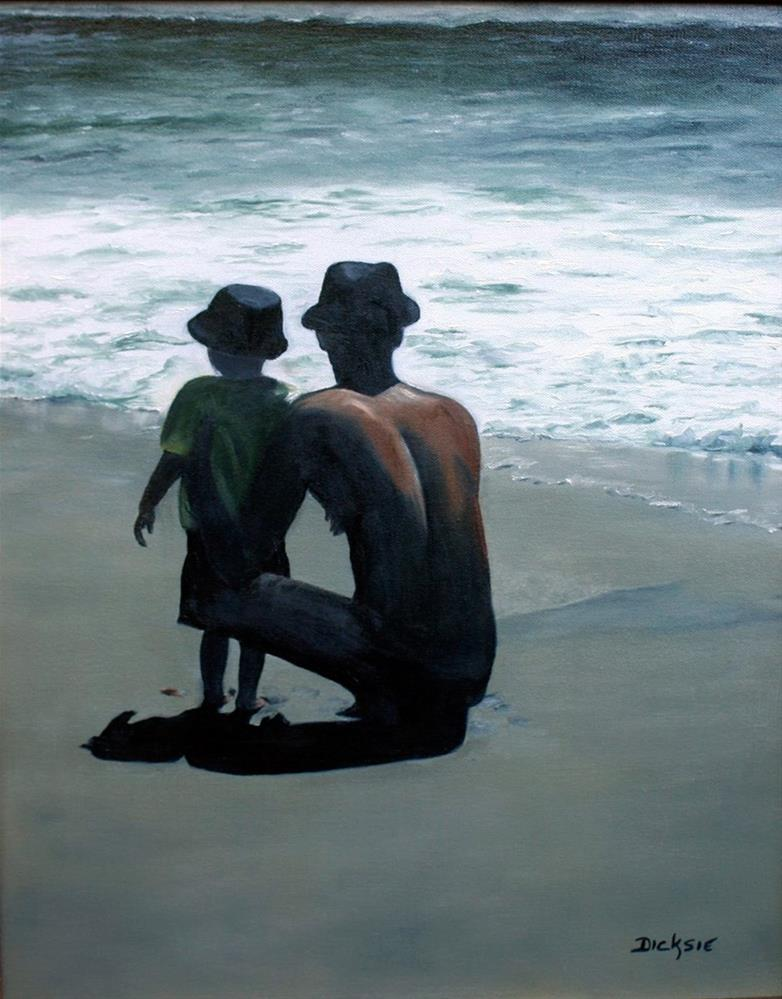 """Bonding in Carmel"" original fine art by Dicksie McDaniel"