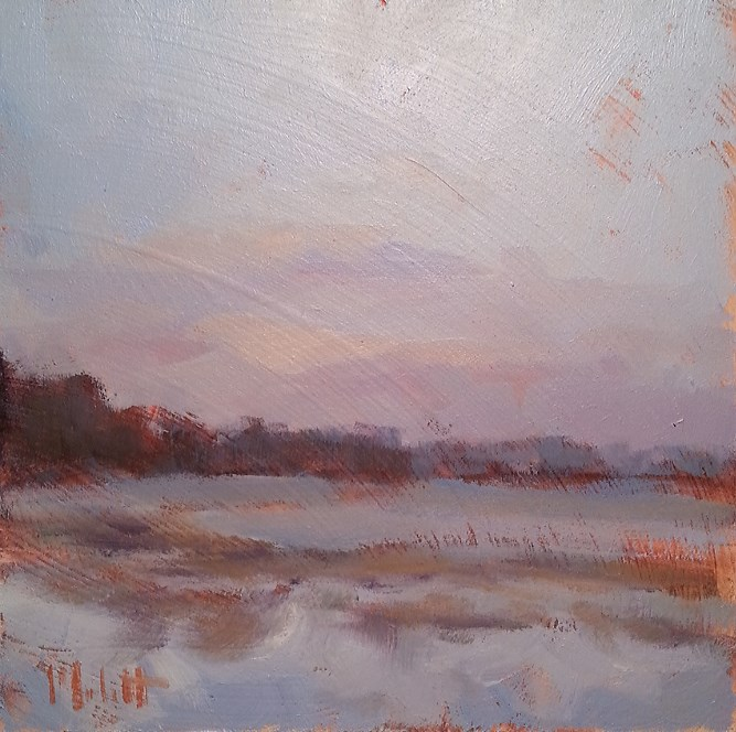 """Winter Oil Sketch Original Impressionism Painting"" original fine art by Heidi Malott"