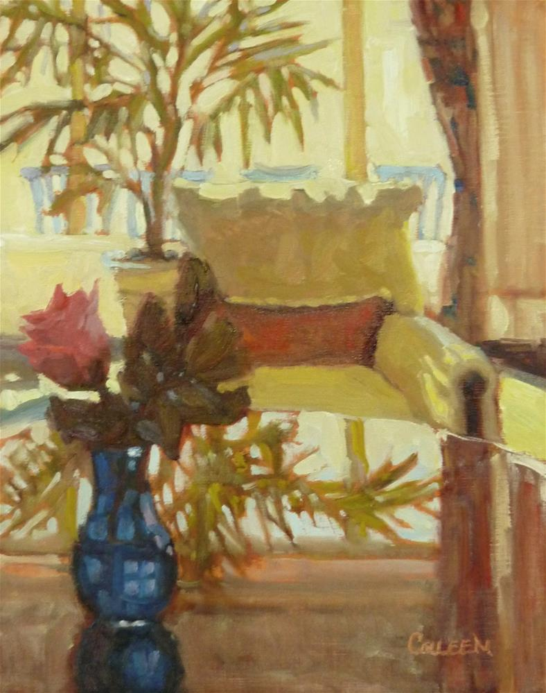 """""""A Seat in the Lobby"""" original fine art by Colleen Parker"""