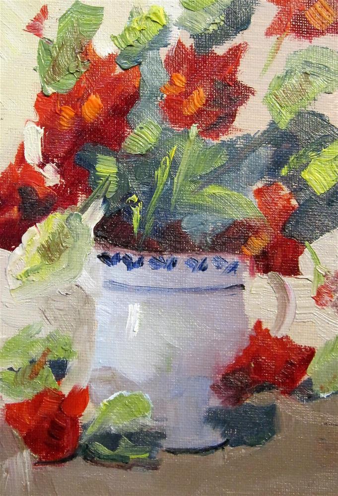 """""""Geranium Still Life"""" original fine art by Delilah Smith"""