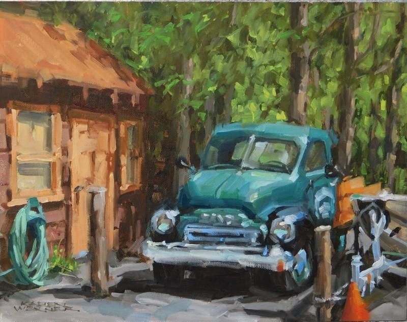 """""""Camp Truck 1948"""" original fine art by Karen Werner"""